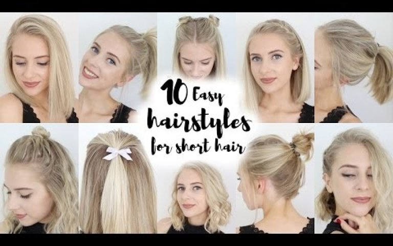 10 Easy Hairstyles for SHORT Hair | Xplore Beauty